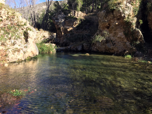 The Sénia River, a temporary river that defines the border between Catalonia and Valencian Region. Picture: J.Latron.